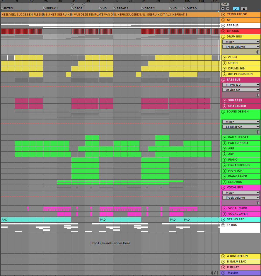 Project in Ableton Live