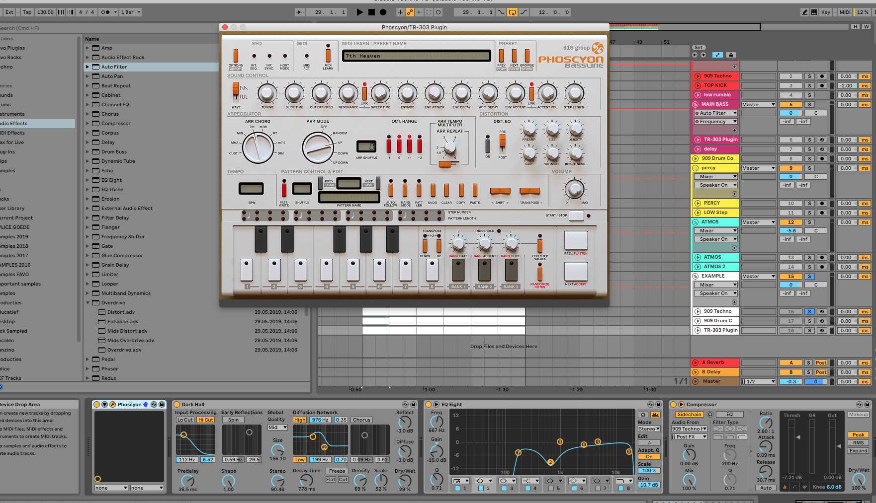 De TR-303 in Ableton Live via een plugin