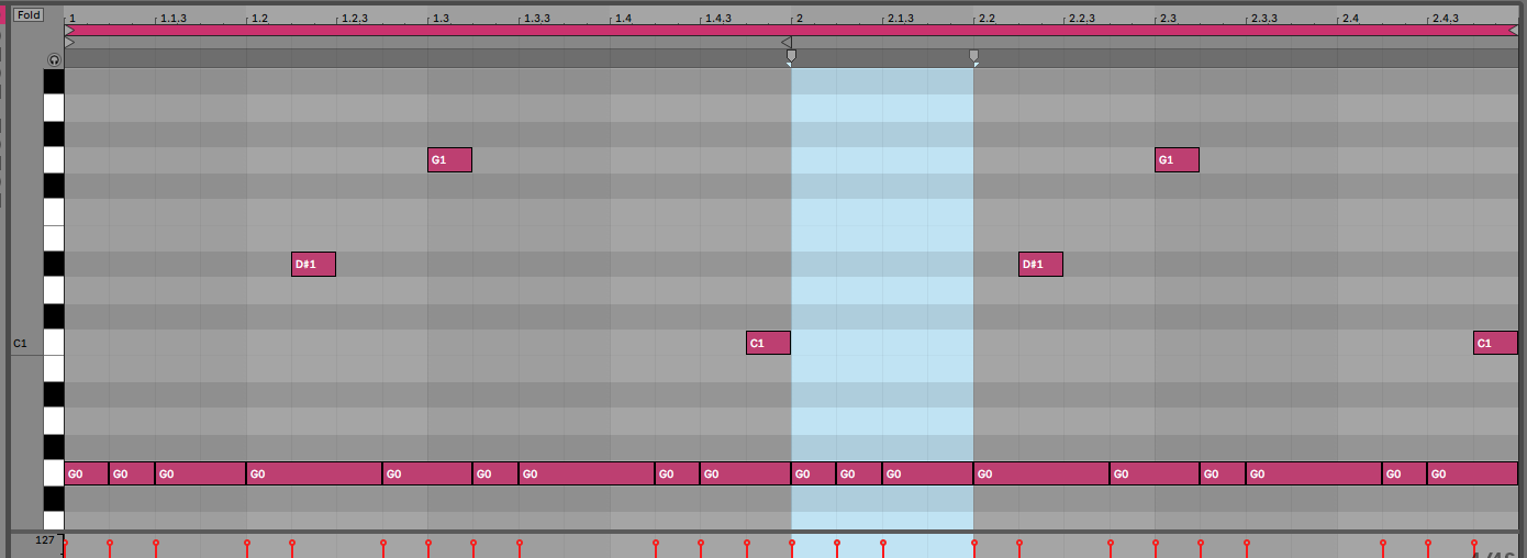 Midi noten in Ableton Live