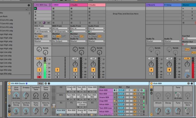 Ik zoek een hobby: Drum Kit Ableton Live