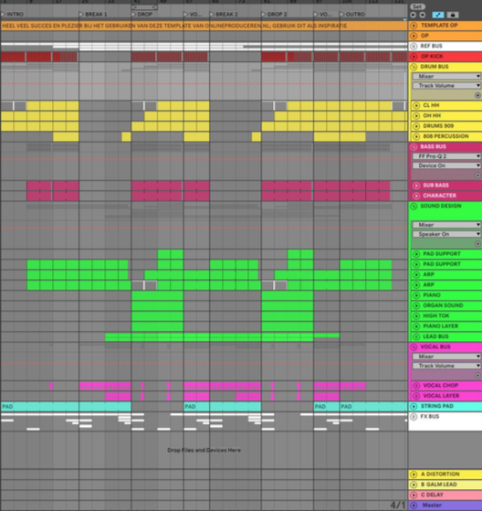 Ik zoek een hobby: Volledig project Ableton Live